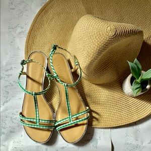 Talbots Gingham Sandals